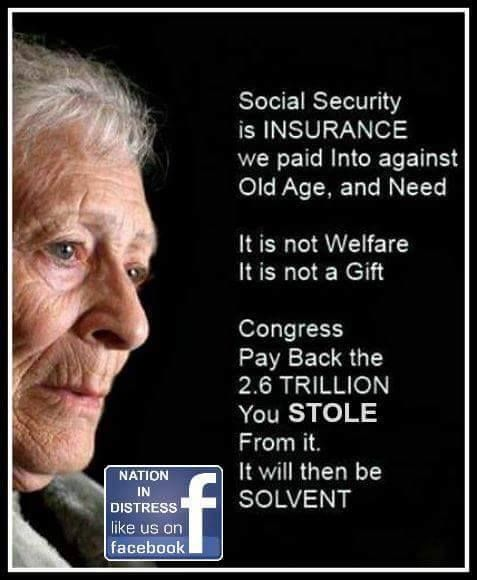 "Pay- It- Back; Simple is the simple answer. Republicans want to sideswipe and dismantle Social Security; or in their words ""privatize.""  WTFU PEOPLE..."