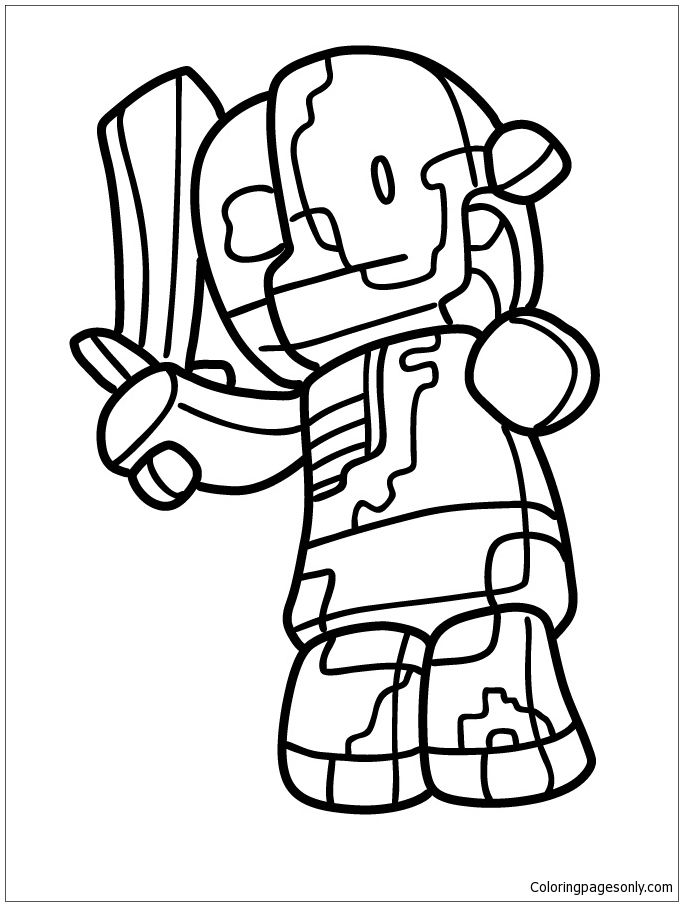 Zombie Pigmen Coloring Page Animal Coloring Pages Coloring Pages Valentines Day Coloring Page