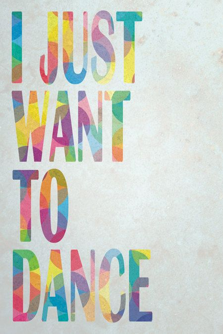 I Just Want to Dance - this is how I feel every night after my ballroom lesson