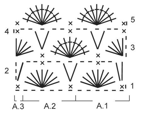 """Hæklet DROPS klud i """"Cotton Light"""" med muslingemønster. ~ DROPS Design"""