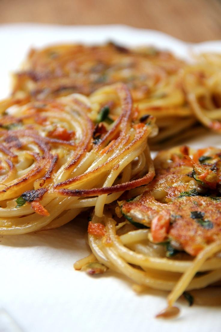 Vegetario » Nidos de Spaghetti y Verduras (o cómo salvar la semana dignamente)