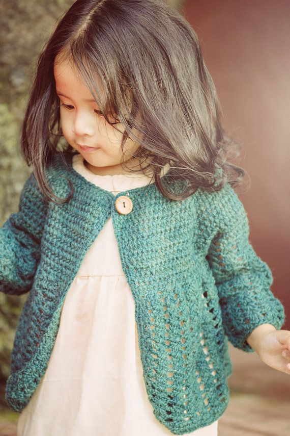 Crochet Baby Sweater with Wooden Button