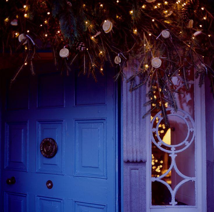 Longueville House Front Door Christmas Garland
