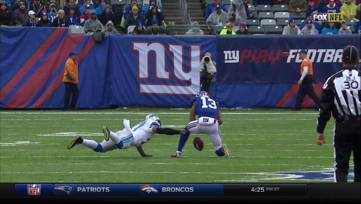 Giants score early touchdown after Lions fail to challenge an obvious blown call by the refs