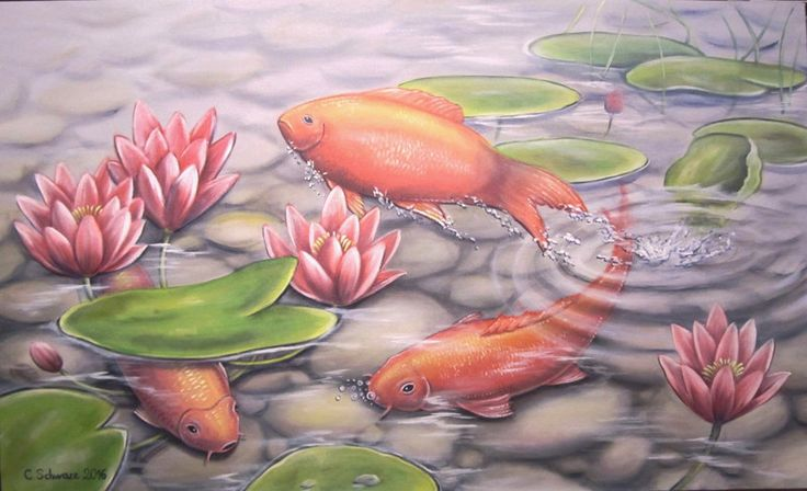 484 best images on pinterest fish art fish and pisces for Teich winter fische