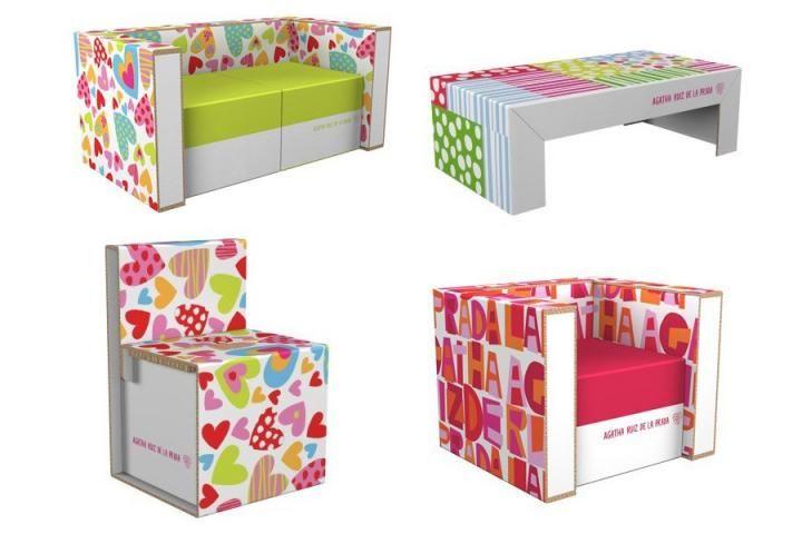 Muebles de cartón diseñados por Agatha Ruiz de la Prada