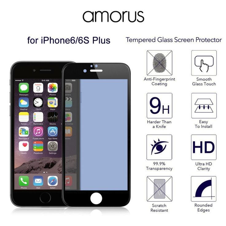 """>> Click to Buy << AMORUS for iPhone 6s Plus / 6 Plus 5.5"""" 3D Plating Anti-blue-ray Tempered Glass Screen Complete Protector Full  iPhone6sPlus #Affiliate"""