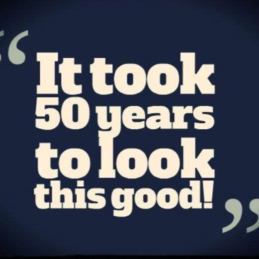 Amen! 50 and feeling fabulous!