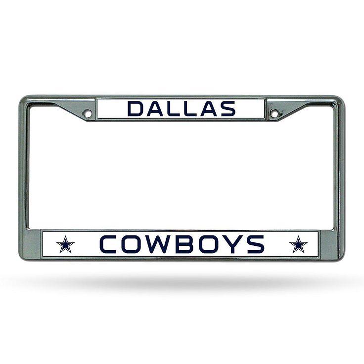 Officially Licensed NFL Chrome License Plate Frame - Cowboys