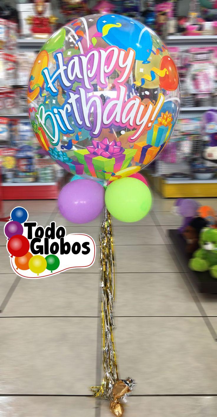 Globo de burbuja para cumpleaños