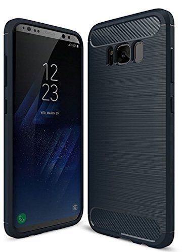 Galaxy S8 Case, Samsung S8 Case, MONOLYTH [Carbon Series] Carbon Fiber, Heavy Duty Protective, Shock Absorption Covers (Blue). ★ MAXIMUM PERFORMANCE - Our Premium Grade Samsung S8 Case is Lightweight, Slim and Rugged. ★ PREMIUM PROTECTION - Protect your device with our shock absorbing, scratch resistant Samsung S8 hard back case with a tough, shock-resistant build. Exceeds Military Drop Test Standards [MIL-STD 810G-516.7], passing 26 steel drop tests. ★ PREMIUM DESIGN - Featuring Premium…