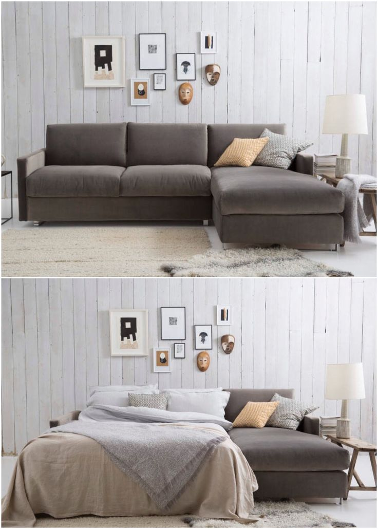 Felix Sofa Bed - Shaving a few inches off the arms gives you more space for  lounging. Tardis-like, Felix looks and feels larger than its actual  footprint, ...