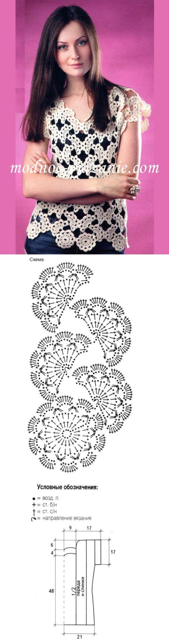 con tiras de encaje http://pinterest.com/gigibrazil/crochet-and-knitting-lovers/