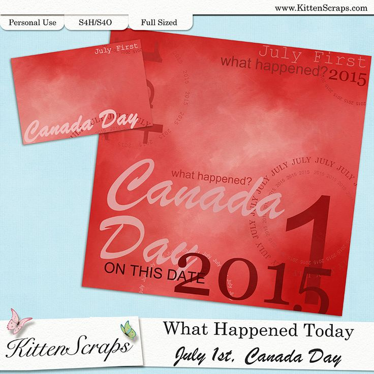 Paper created for today,Canada Day, July 1st, 2015, by KittenScraps. Digital Scrapbooking Freebie