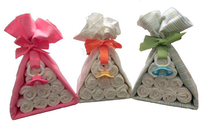Diaper Cake Stork Bundle - Unique Baby Shower Gift, Centerpiece, Favor receiving blanket pacifier girl boy neutral.