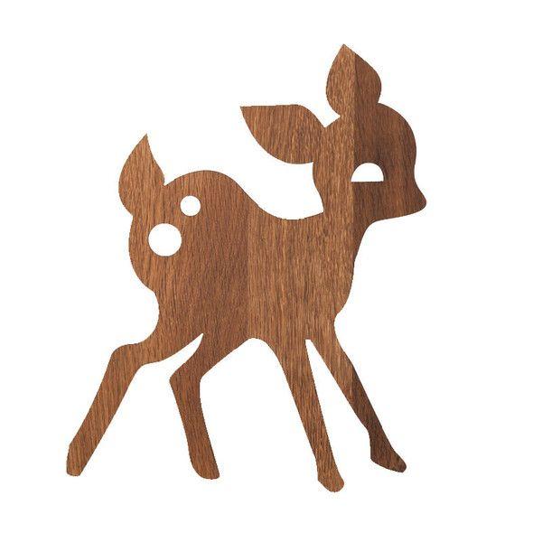 ferm Living lampe, My Deer - røget eg