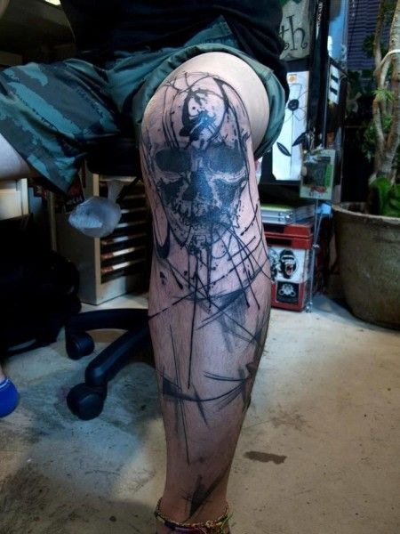 tatuagem no joelho