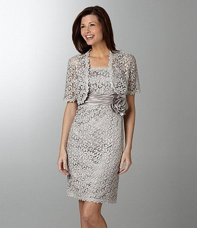 Mother of the Bride Dress - R and M Richards Lace Jacket Dress