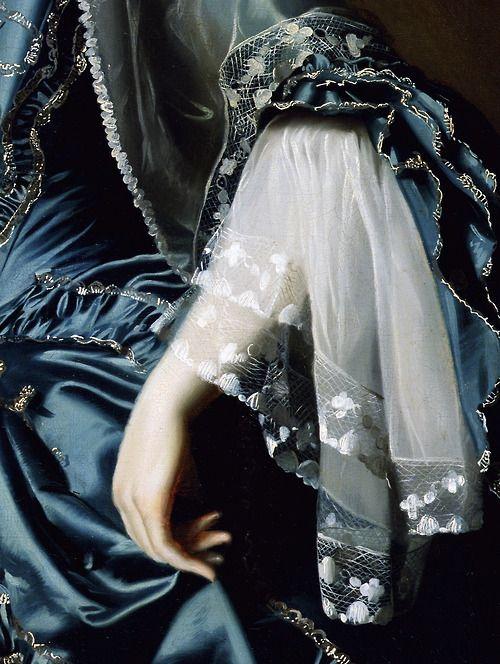 Mrs. Daniel Sargent  (detail)  Circa 1764  --  John Singleton Copley  --  American  --  Oil on canvas  --  DeYoung Museum, San Francisco: