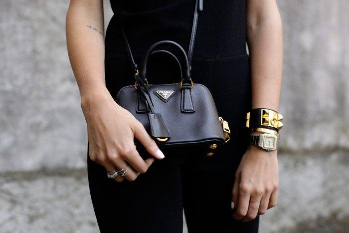 Chiara Ferragni with Prada bag in Milan, Italy May 27