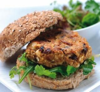 Tasty HFG burgers - with mince, lentils or beans and veges  HFG Jan 2006