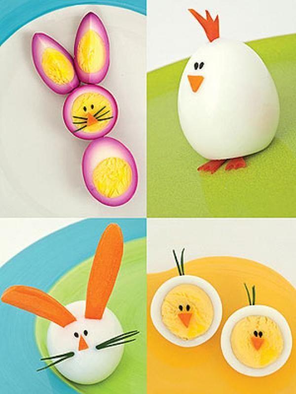 animalitos de huevo para Pascua