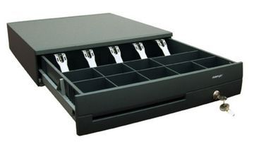 The Posiflex CR-4100 Series Cash Drawer is a rugged heavy gauge steel cash drawer. It is designed with no screws or bolts accessible from the outside. The 4100 has the insert with the Metal note clips. The standard drawer can be used in all normal environments where the solenoid is fired by a POS system or Printer, no matter whether it is 12V or 24V.