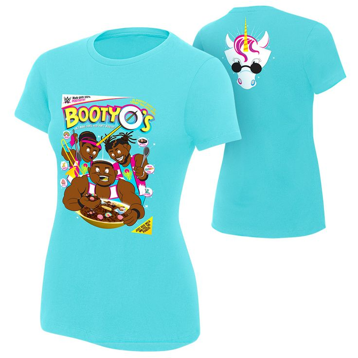 Get your recommended daily value of Positivity, Unicorn Magic, and Trombone music! All part of a balanced New Day Breakfast! WWE Wear - The Official Shirt of the WWE Superstars Classic Fit 100% combed ring-spun cotton fine jersey 4.3 oz 32 singles fabric laundered for reduced shrinkage 1x1 baby rib-knit set-in collar with front cover-stitch Actual color may differ slightly