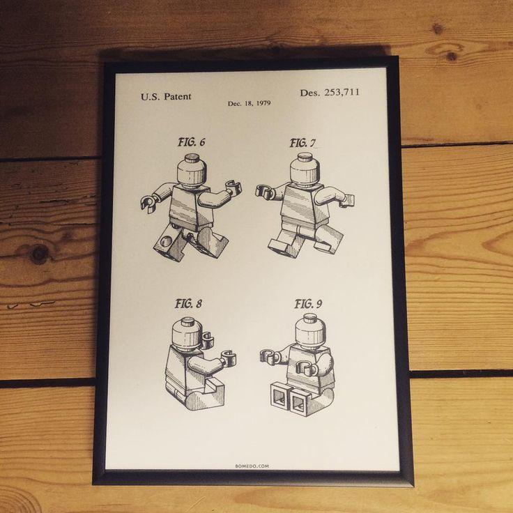 Så er denne poster flyttet ind hos os ❤️ Gav manden den i årsgave i tirsdags❤️ #bomedo #legomand #patent #årsgave #fedposter #loveit