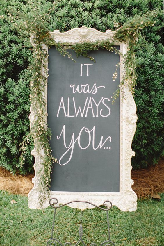 These lovely signs add a little something special to your wedding festivities   Harwell Photography: