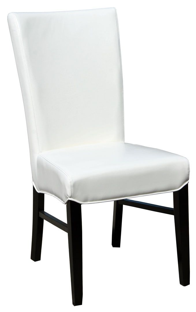 97 dining room chairs white leather restaurant for White leather dining chairs