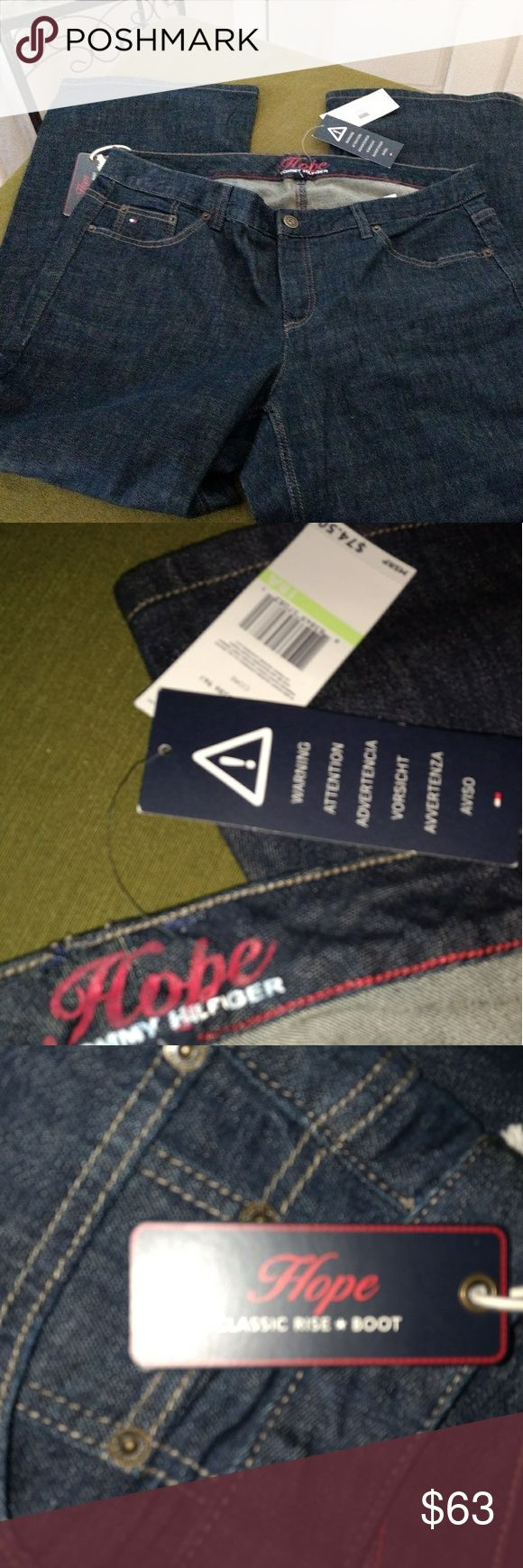"""NWT Tommy Hilfiger Hope Jeans, 18 Short You are purchasing new with tags Tommy Hilfiger Hope jeans. They are a size 18 A short jean with an inseam of 30"""".  The jeans were $74.50 at the store. Tommy Hilfiger Jeans Boot Cut"""