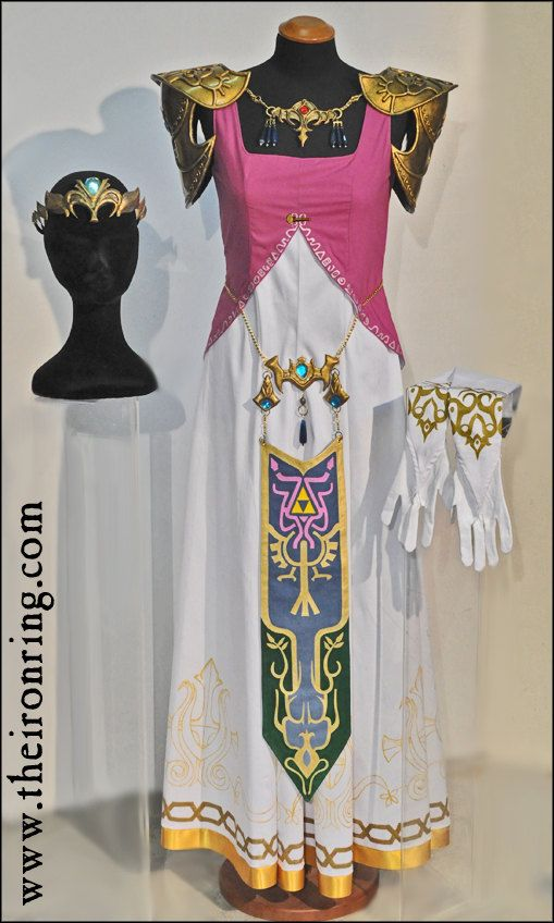Princess Zelda complete outfit for cosplay custom by TheIronRing. The best Zelda cosplay I have ever seen. Very expensive, but very awesome.