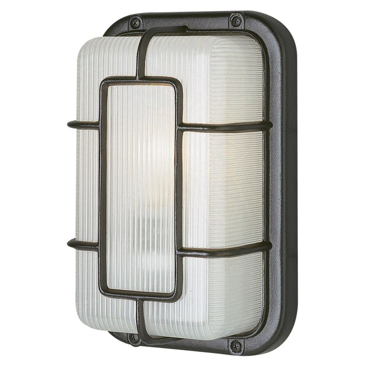 Trans Globe Energy Saving PL-41101 Outdoor Southwestern Bulkhead Wall Light - 10H in. - PL-41101 WH