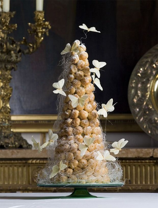 Alternative baking - like this profiterole tower - is going to be a big trend for wedding cakes this year