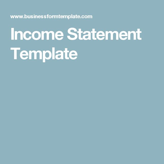 Počet nápadov na tému Statement Template na Pintereste 17 - income statement examples