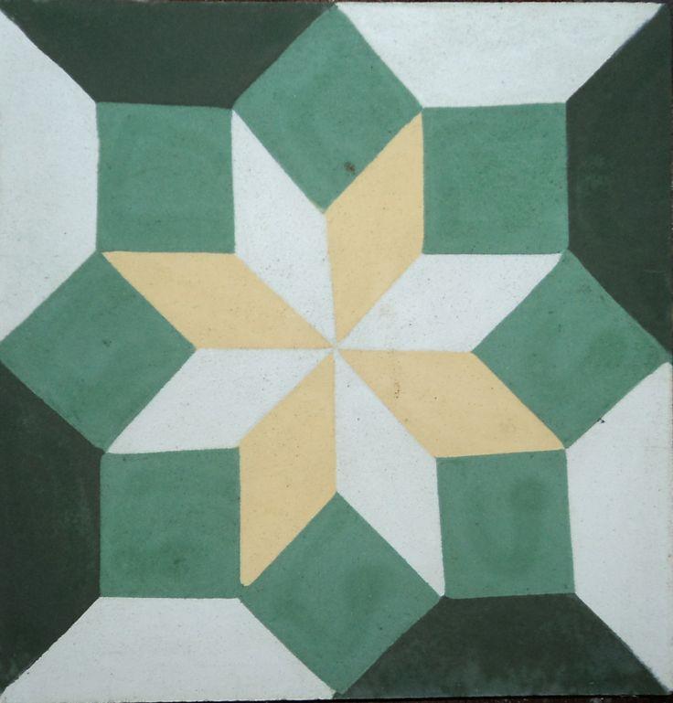 Restos dos Azulejos - ladrilho hidráulico estrela