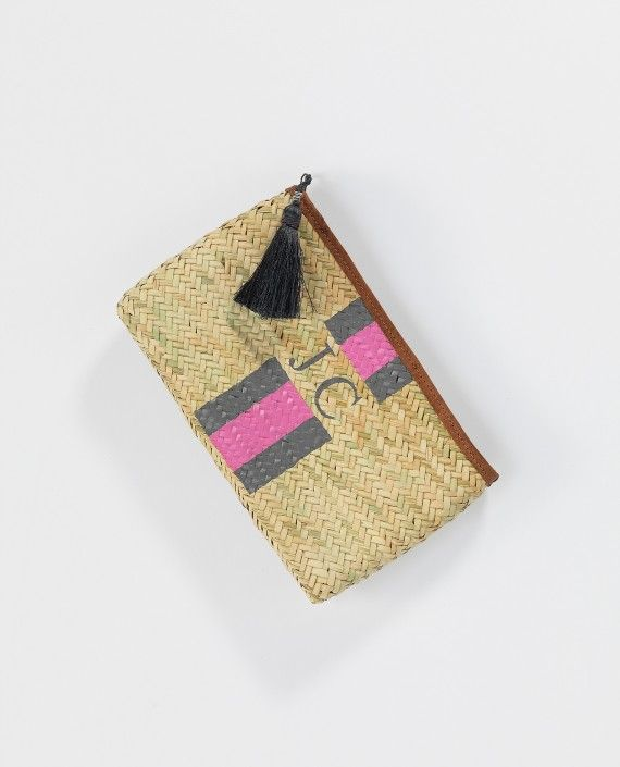 Rae Feather basket clutch bag - personalisation ad monogramming