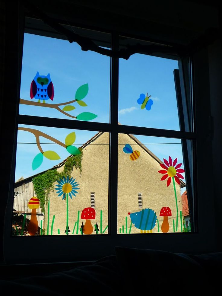 Meine grüne Wiese: Im Fenster