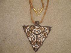 Miyuki NecklaceGeometric Triangle by gulum on Etsy, $35.00