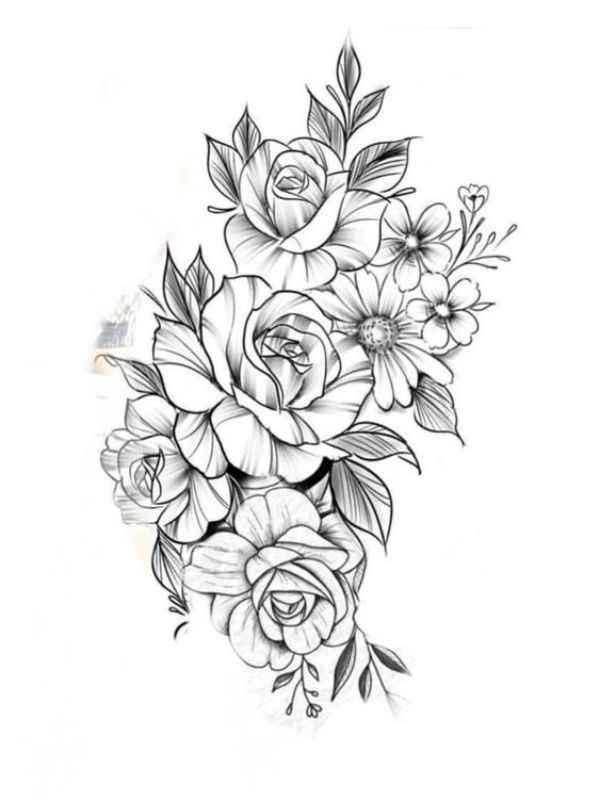 42 Simple And Easy Flower Drawings For Beginners Cartoon District Tattoos For Daughters Tattoos Flower Tattoo Designs