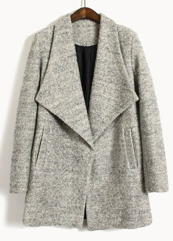 Light Grey Big Lapel Coat