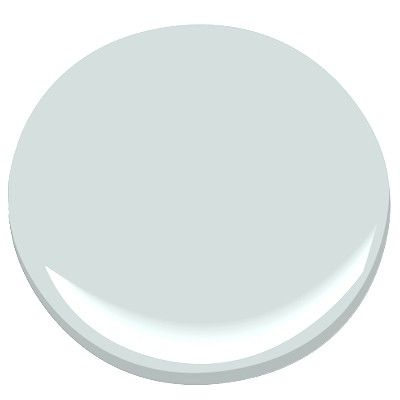 BM: Glass Slipper. Color for downstairs bath. Looks very pale, but with no natural light in the small space it's the perfect amount of blueish grey.