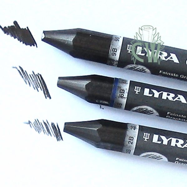 3 X Lyra Solid Graphite Chunky Pencils 2B,6B,9B. For Artists Drawing &…