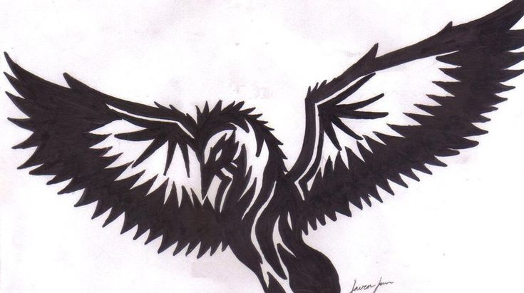 Tribal bird tattoo thing by ~lordsesshomarusgf on deviantART