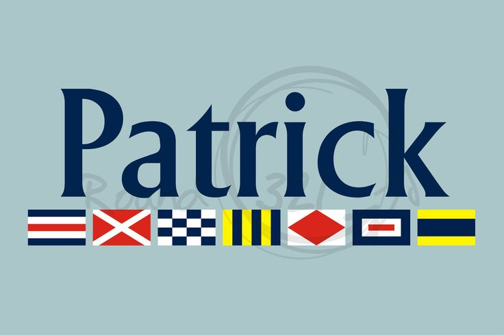 Nautical Flags and Personalized Name Wall Decal - Round321.com #custom #personalized #flags #boy #bedroom #decor  http://www.round321.com
