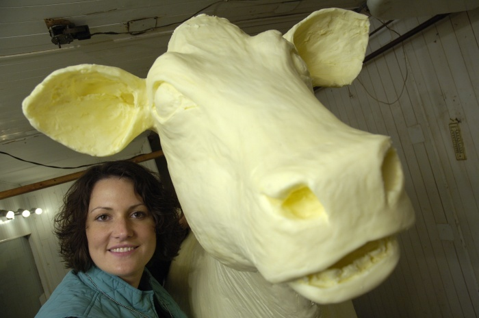 Sarah Pratt, the new butter cow lady.  Tom & Mary Doyle's daughter.