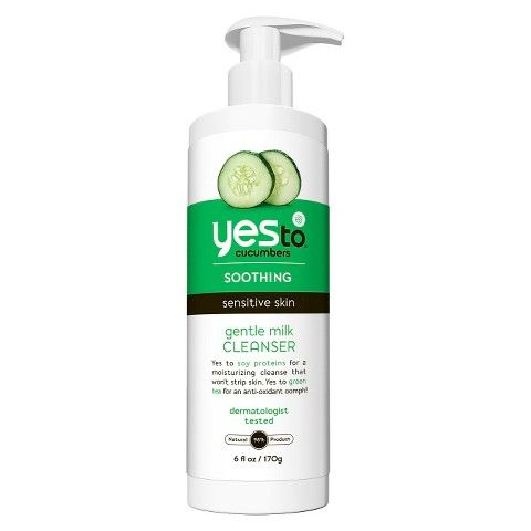 Soothing Sensitive Skin Gentle Milk Cleanser | Yes to Cucumbers