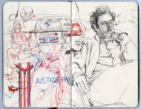 A web page with examples of famous artists sketchbooks as well as fun information on pencils for use in drawing.