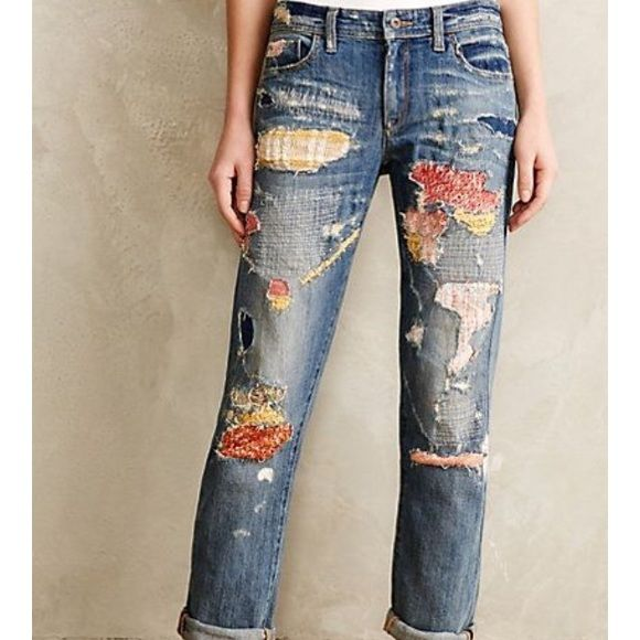 WANTED: Pilcro Sweater-Patch Jeans 26 or 27 I want these SO badly and can't seem to locate them anywhere. Obviously from Anthropologie. In a 25, 26, OR 27. I do NOT want any of the other Pilcro patched jeans, just the sweater patch ones shown. Please help me out? Anthropologie Jeans